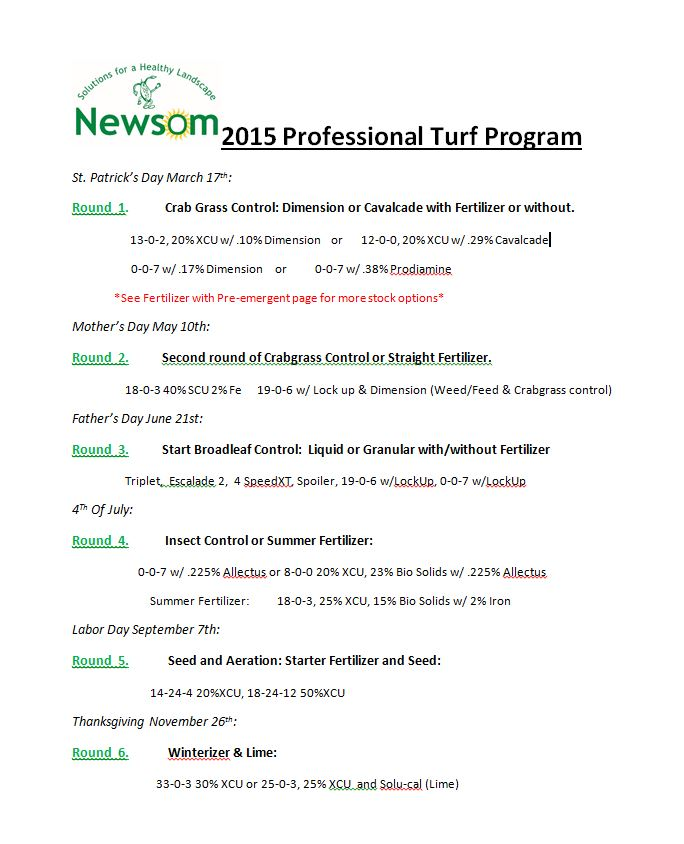 Newsom Professional Turf Program 2013